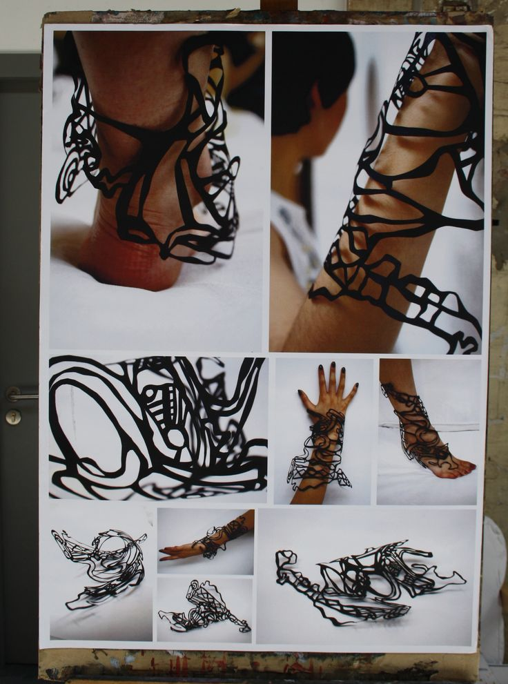 Textile jewellery idea from 2012 portfolio from student accepted for a wed variety of design departments including GSA jewellery, fashion and textiles as well as ECA fashion and performance costume