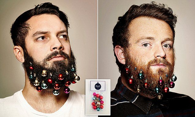 Beard baubles are new must-have accessory for hipsters this Christmas