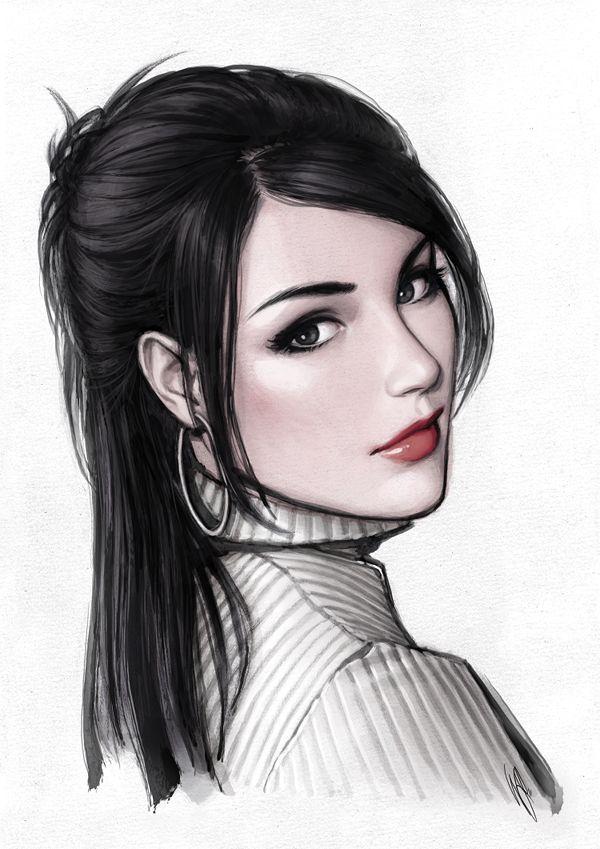 Картинки красивые девушки нарисованные