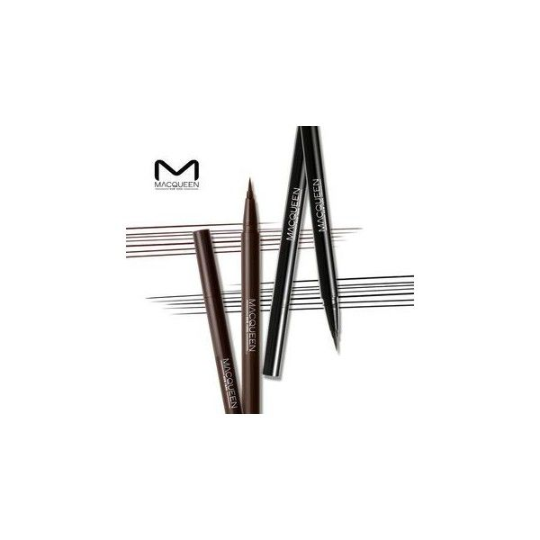 MACQUEEN Waterproof Pen Eyeliner (2 Colors) ($4.76) ❤ liked on Polyvore featuring beauty products, makeup, eye makeup, eyeliner and pen eyeliner