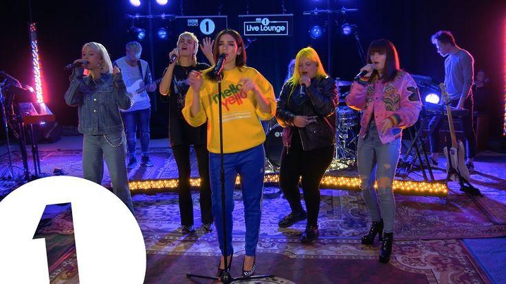 Dua Lipa - IDGAF ft. Charli XCX, Zara Larsson, MØ, Alma, in the Live Lounge - YouTube