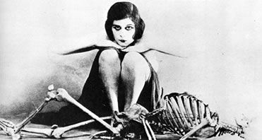 Theda Bara & Skeleton. The ultimate goth girl icon!!!