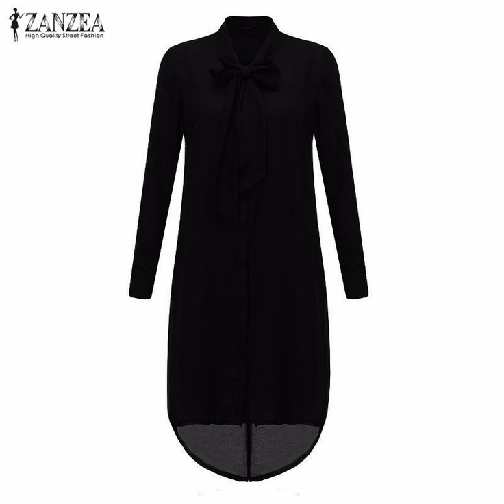 Fashion Blusas Femininas Women Shirt Dress Bow Long Sleeve Casual Amsymetircal Chiffon Blouse Tops Plus Size S-5XL - Black, 5XL Tag a friend who would love this! Visit our store