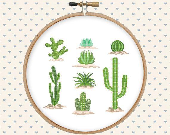 Cactus cross stitch pattern cross stitch PDF by GentleFeather