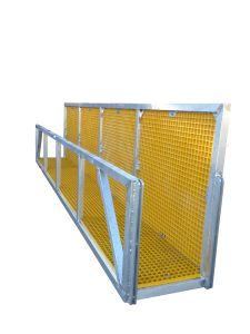 Aluminium walkway, work platform with grating