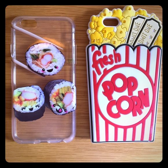 iPhone Case Sushi case and popcorn case Claire's Accessories Phone Cases