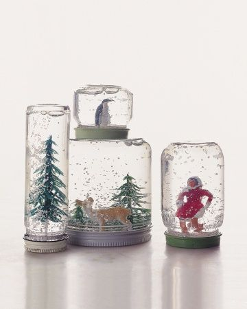CHRISTMAS TIME! Create a Winter Wonderland in a Jar- Martha Stewart DIY