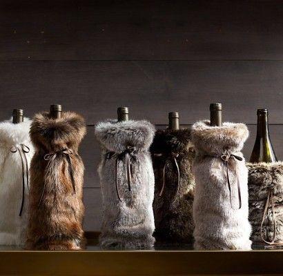 Futrzany worek na wino - opakowania na wino, torba na butelki, torba na wino, torebka na wino, torebki na wino, wino - TRENDmag.pl - najnowsze trendy