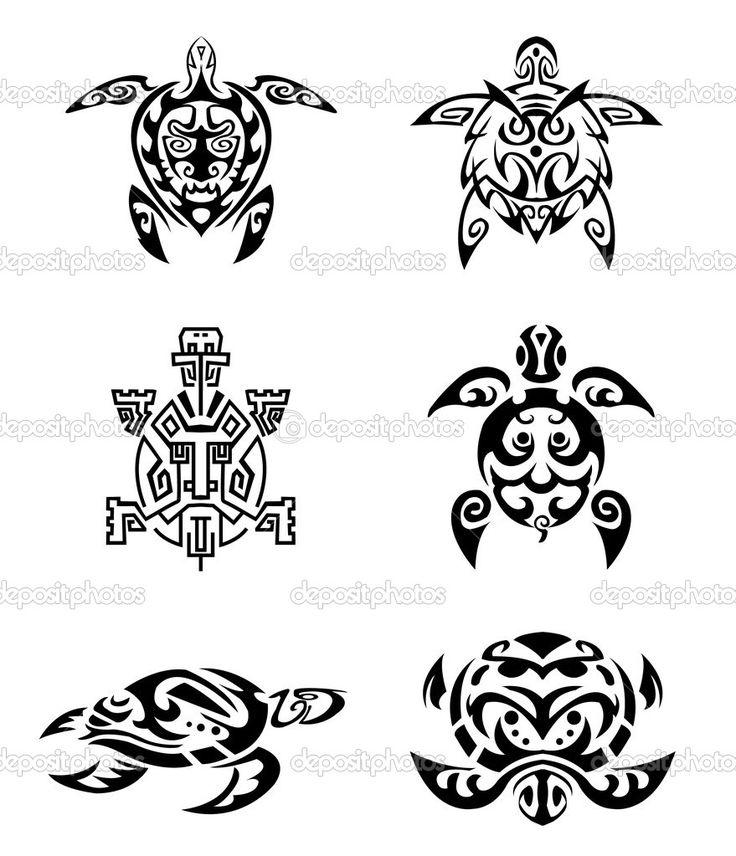 Tortuga del tatuaje conjunto