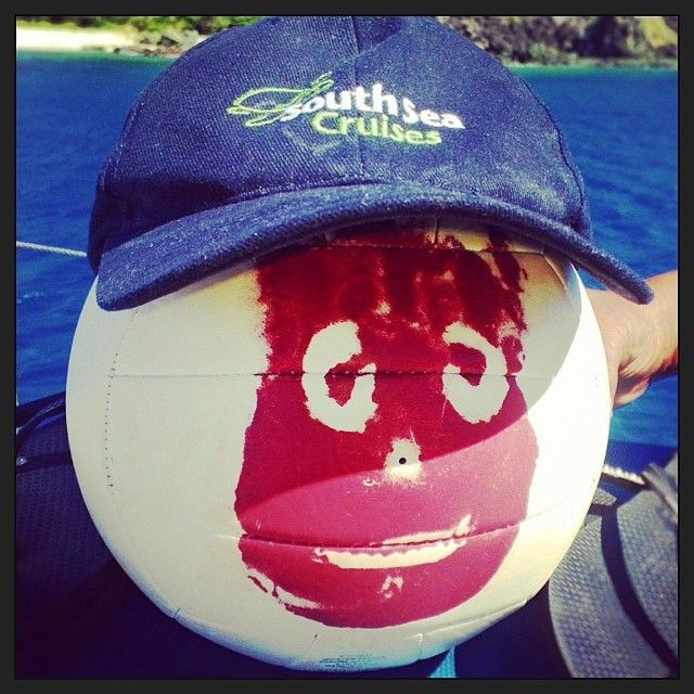 Modriki Island! The location for Castaway with Tom Hanks. Recognise this guy? See it on a Seaspray Sailing Adventure with South Sea Cruises. #tomhanks #castaway #southseacruises #modriki #movie #cap #otherusesforaball