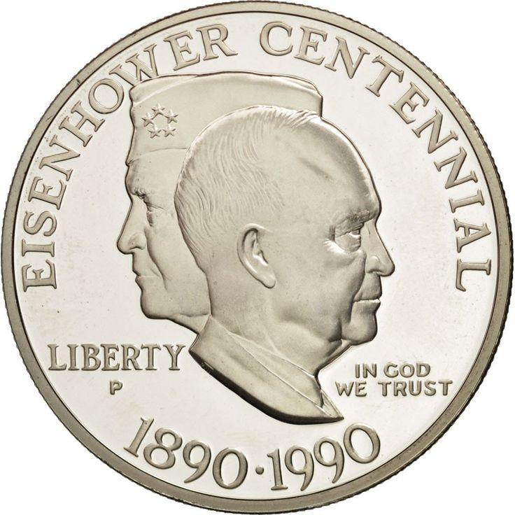 United States, Dollar, 1990, U.S. Mint, Philadelphia, MS(65-70), Silver, KM:227