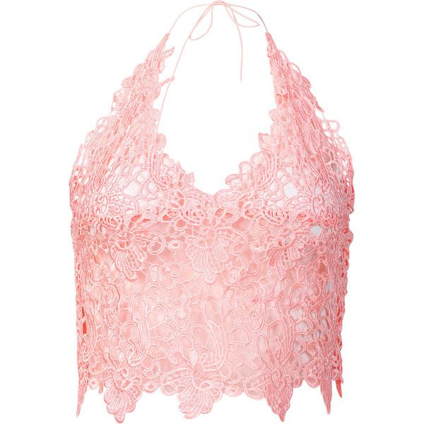 Yoins Pink Sexy V-neck Strap Bralet with Lace Details ($18) ❤ liked on Polyvore featuring tops, pink, lace detail top, strappy top, sexy v neck tops, bralet tops and spaghetti-strap tops