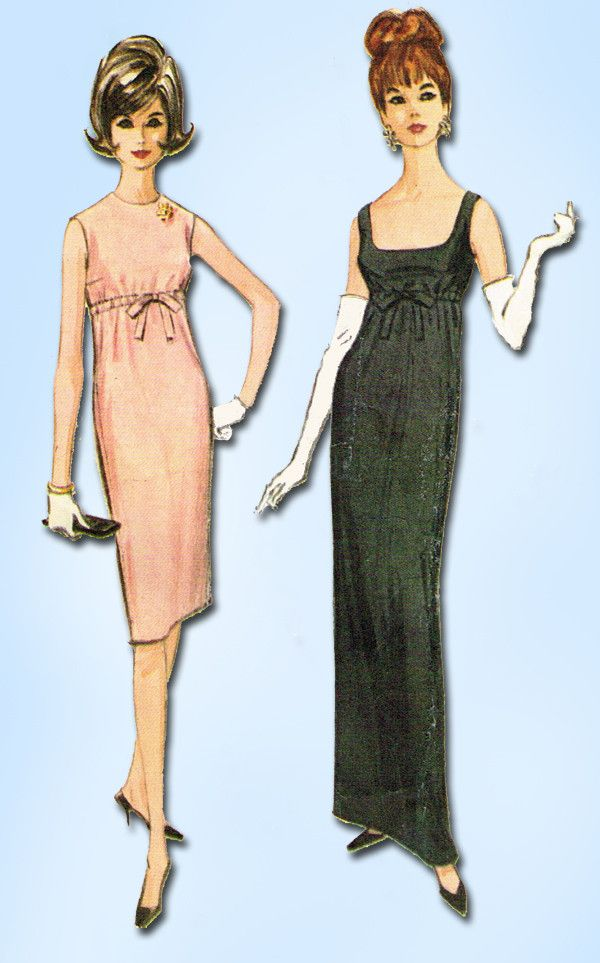 1960s Vintage Misses Easy Evening Gown McCalls Sewing Pattern 7043 Size 13