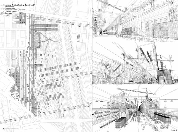 Runner Ups Of The Los Angeles Cleantech Corridor And Green District  Competition. Factory ArchitectureSchool ...