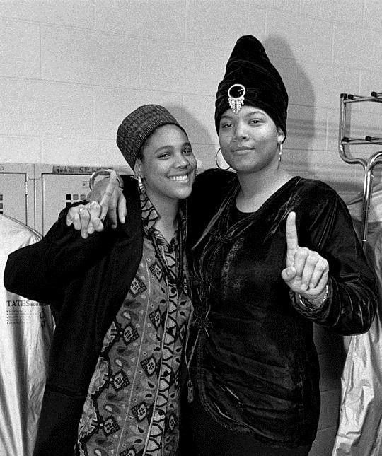 Monie Love and Queen Latifah || 1989