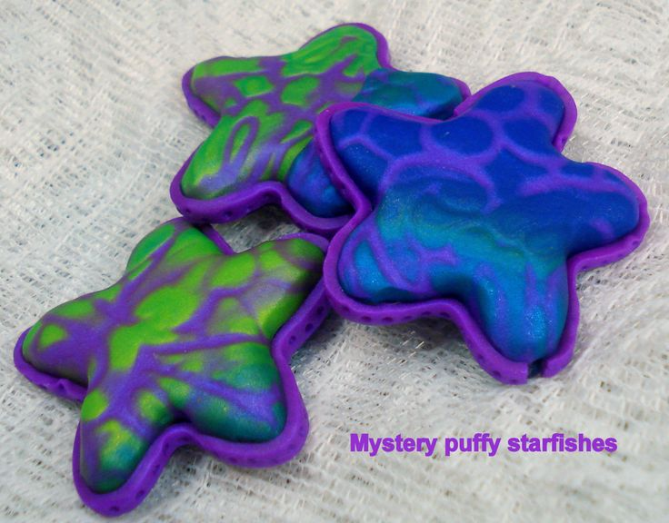 Multilisting! Puffy starfishes, handmade, polymer clay, beads, artistic, softies, mystery, honeycomb, burbujas, jewelry, craft, keycrings by 1000and1 on Etsy