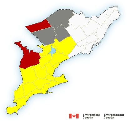 Map of Ontario - south