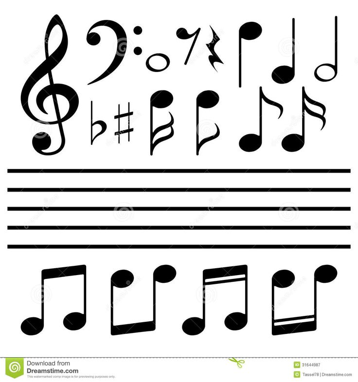 Vector Icons Set Music Note Royalty Free Stock Photography   Image