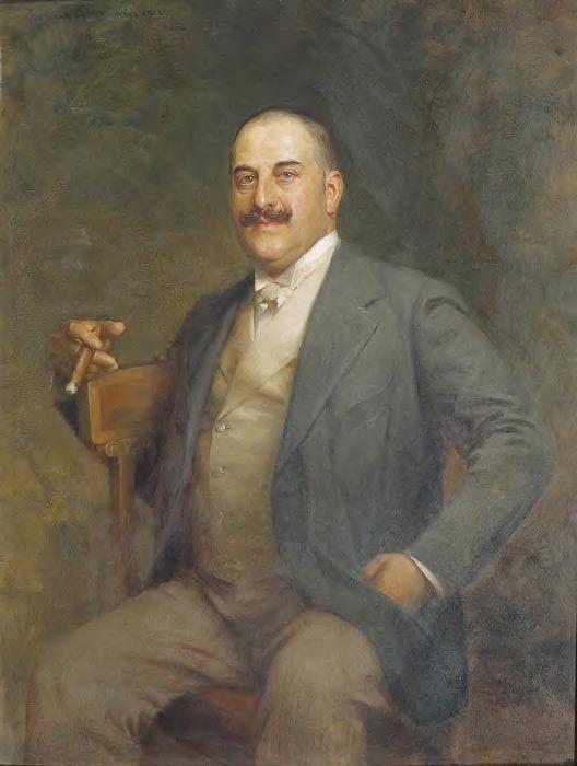 """Zygmunt Ajdukiewicz """"Portret mężczyzny"""", 1902, olej na desce, 46 x 36 cm, Muzeum Historyczne, Wiedeń"""