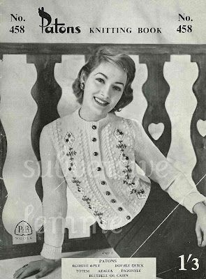 women's free knitting pattern for Tourmaline Tyrolean Cardigan from Patons No.458