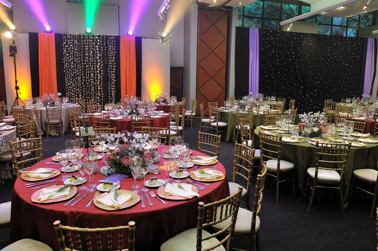 Tables, Backdrop and Lighting