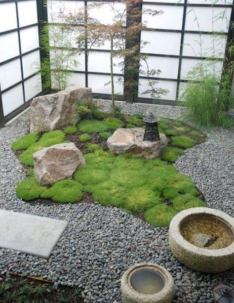 jardin interior estilo zen                                                                                                                                                      Más