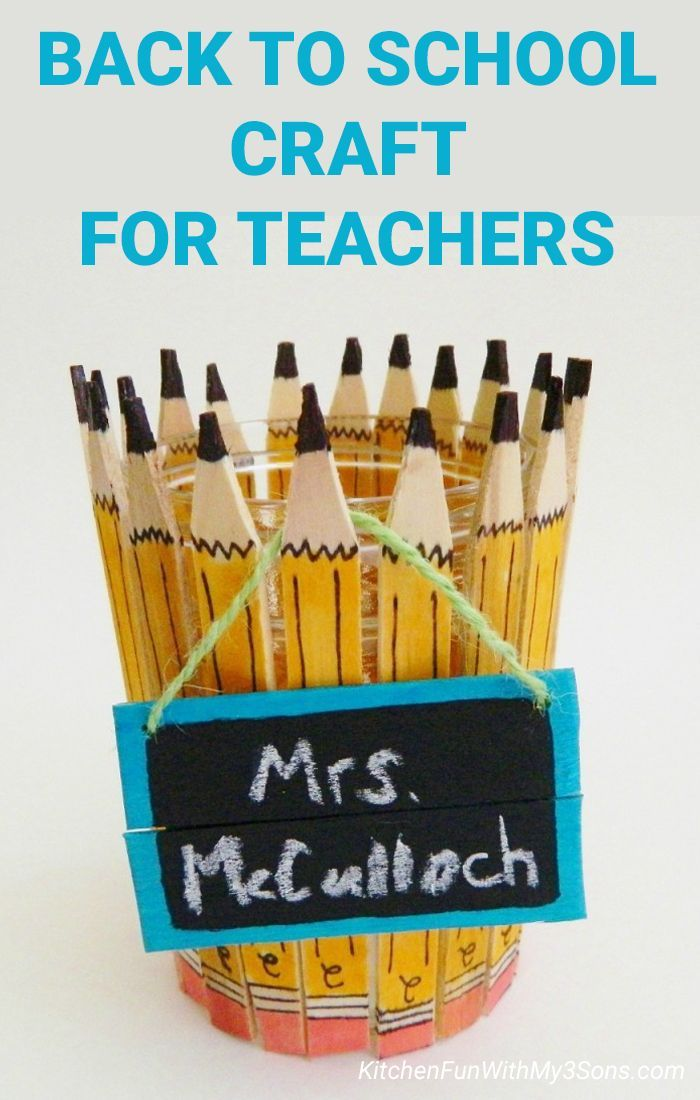 Back To School Popsicle Stick Pencil Craft For Teachers Pencil