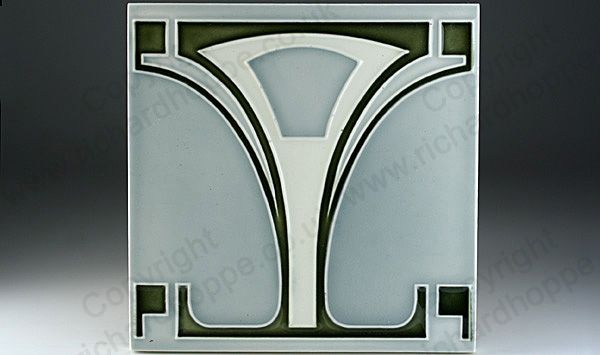 Art Nouveau & Art Deco Tiles. German, Boizenburg. This item is sold. To visit my website to see what's in stock click here: http://www.richardhoppe.co.uk or for help or information email us here: info@richardhoppe.co.uk