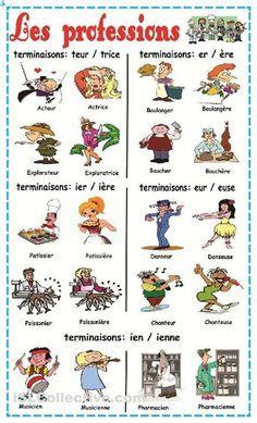 Les professions dans la France. #jobs