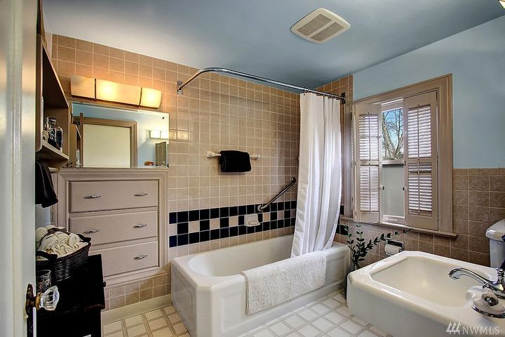 built in drawers in deco bathroom. maybe work with our main floor bath. 1931 bryant home