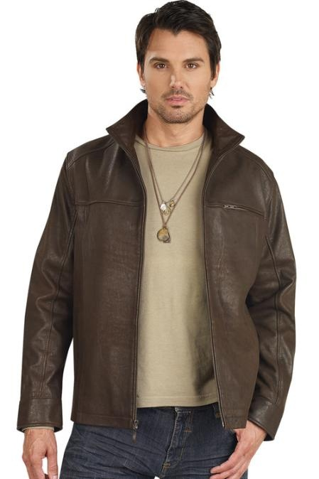 Check this out Brown Leather Jacket  for only US$159, get this one. Buy more save more!, Buy 3 items get 5% off, Buy 8 items get 10% off.