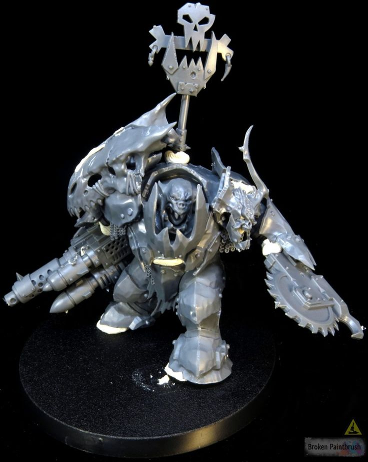 Clearly lots of detail still needed but he is the start of a Megaboss to Ork Warboss conversion