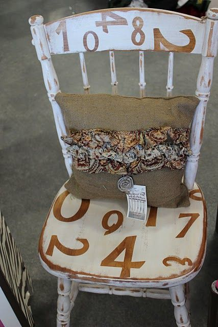 OMG.. numbers on the chair... love love love! must do