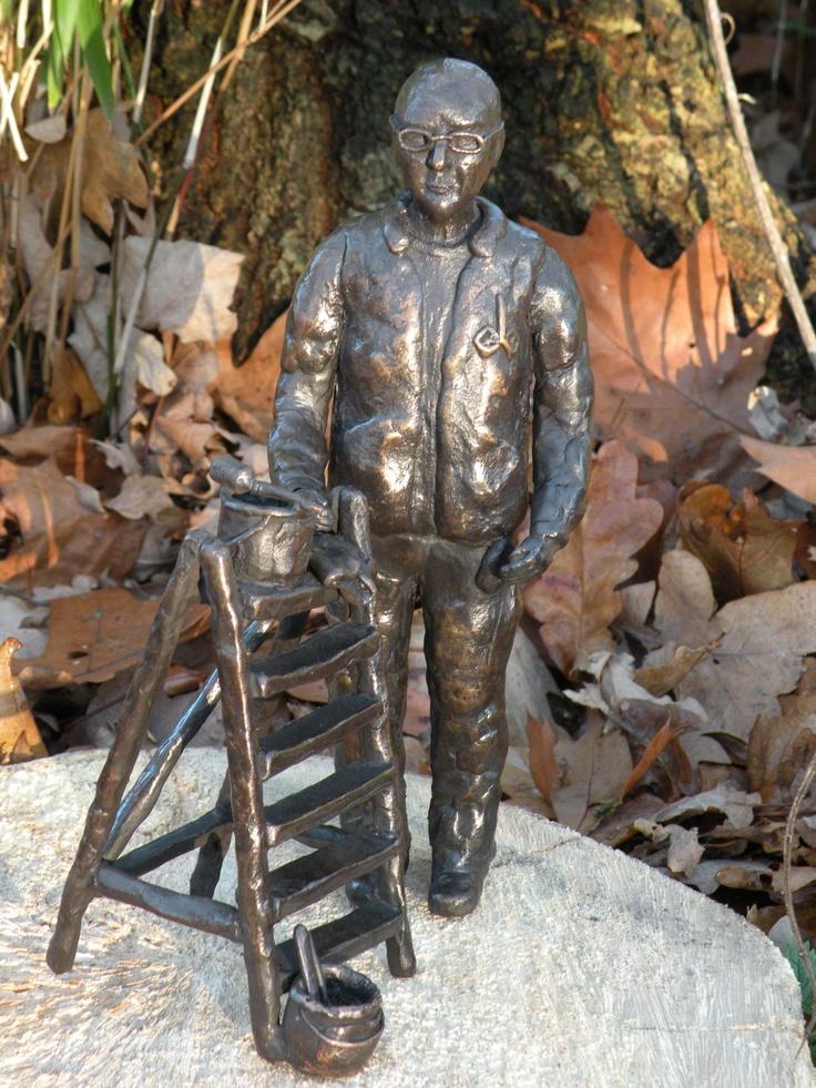 schilder in brons