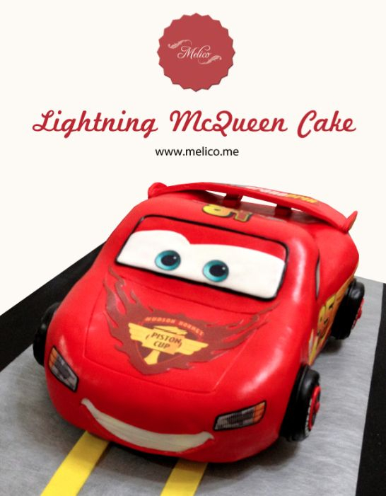 3D Cake - Cars Lighting Mcqueen Cake. #3dcake #cake #ediblecake #sculptedcake #noveltycake #birthdaycake #kidsbirthday #sugarart -- Like and Follow us #melicobali (Instagram) || www.melico.me