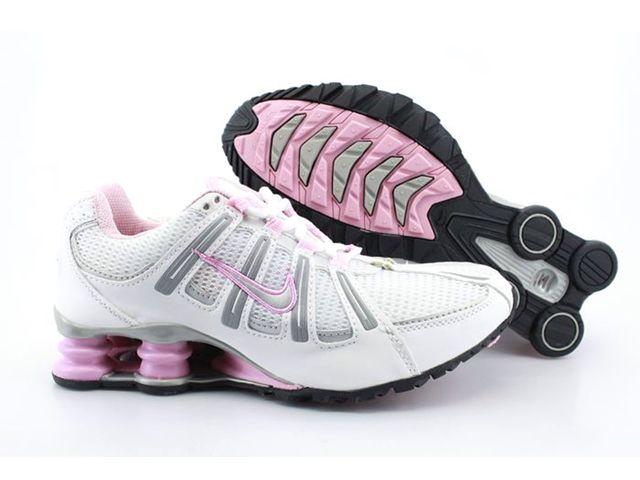 Chaussures Nike Shox Turbo Blanc/ Gris/ Rose [nike_12454] - €46.94 :
