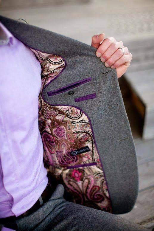 The Devil is in details: the stylish inner side of a men's jacket