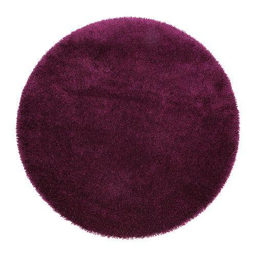 ÅDUM Rug, high pile, lilac lilac 130 cm