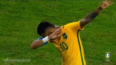 Brazil wins football final on penalties. Neymar pays tribute to Bolt cheering in…