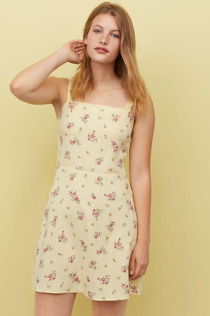 H&M Patterned Dress – Yellow