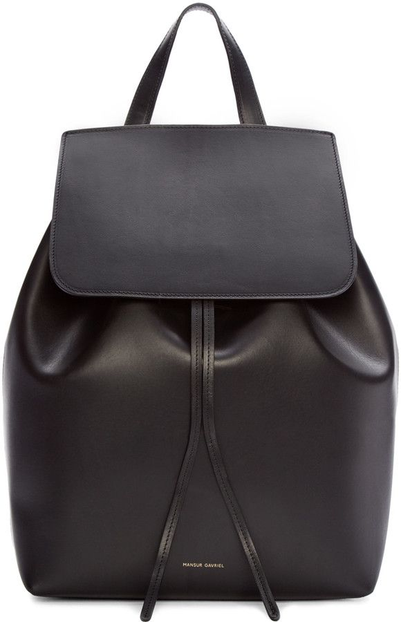 Mansur Gavriel Black Leather Backpack                                                                                                                                                                                 More