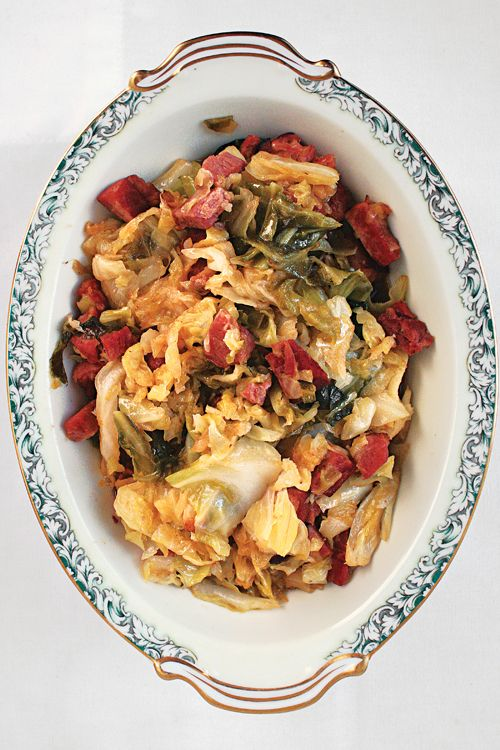 Braised Cabbage with Slab Bacon   SAVEUR