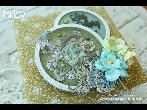 Мини-альбом с феями/Fairy Mini album for girl scrapbooking - YouTube