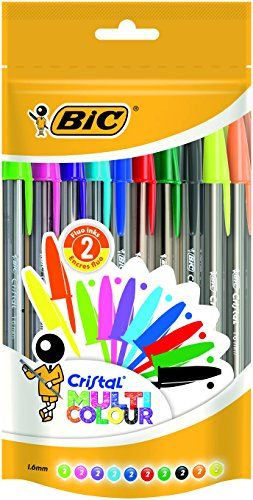 BIC Cristal - Bolsa de 20 bolígrafos, 2 fluorescentes, mu... https://www.amazon.es/dp/B01LY6W4MW/ref=cm_sw_r_pi_awdb_x_nCoOyb189WN0E