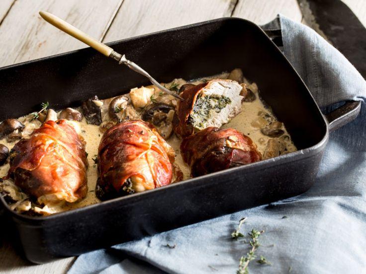 Gefüllte Hähnchenbrust mit Parmaschinken