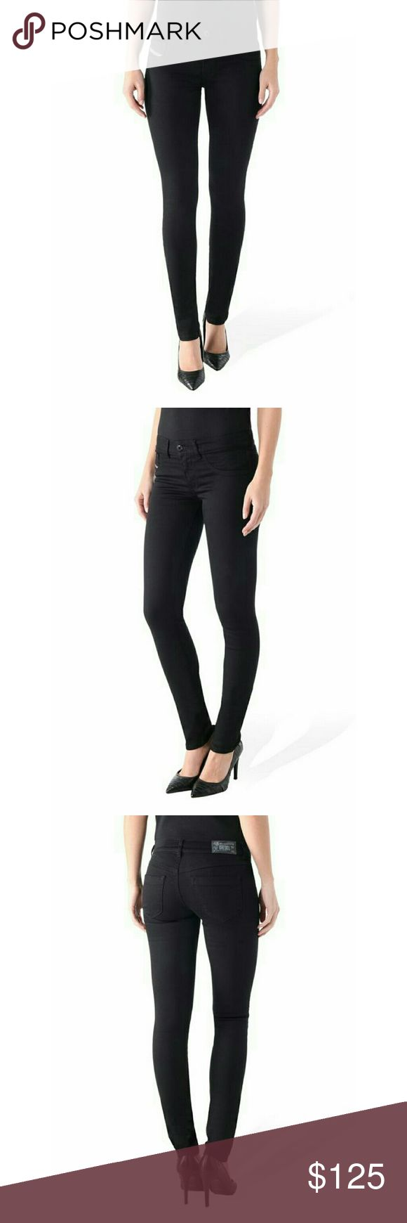Diesel Livier 0800R Jeggings Brand: Diesel  Base Name: Livier 0800R Size: 27 Material: 98% Cotton 2% Elastane Outer Material Type: Cotton Style: Super Slim Jeggings - are low waist, skin tight, and mixes attitude of denim with the ease of jeggings. Comfortable and cool; it's the perfect everyday choice Diesel Pants