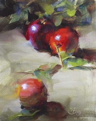 """Daily Paintworks - """"Orchard Apples"""" by Pamela Blaies"""