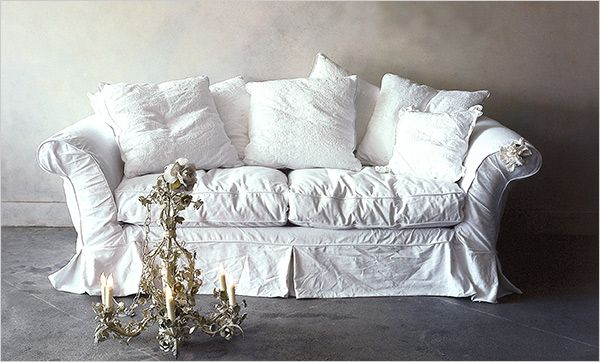 """There's an unnecessary reference to Mr. Darcy in the story about this lovely couch, and the bankruptcy of the woman who designed it--the official founder of """"Shabby Chic""""--that renders the literary an adequate explanation for the aesthetic."""
