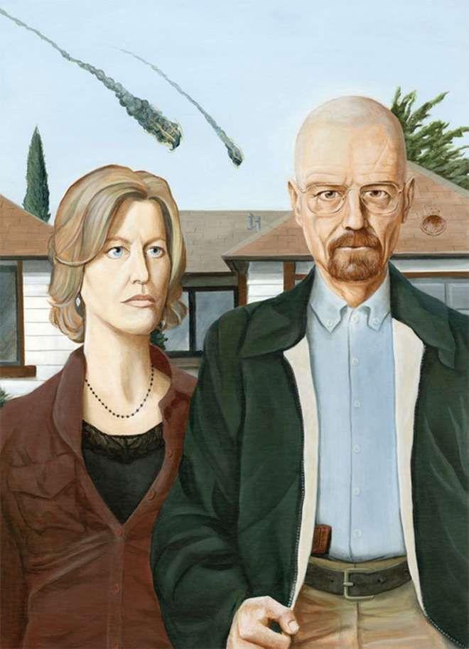 """""""American Gothic"""" : probablement la peinture la plus (et la mieux !) parodiée au monde"""