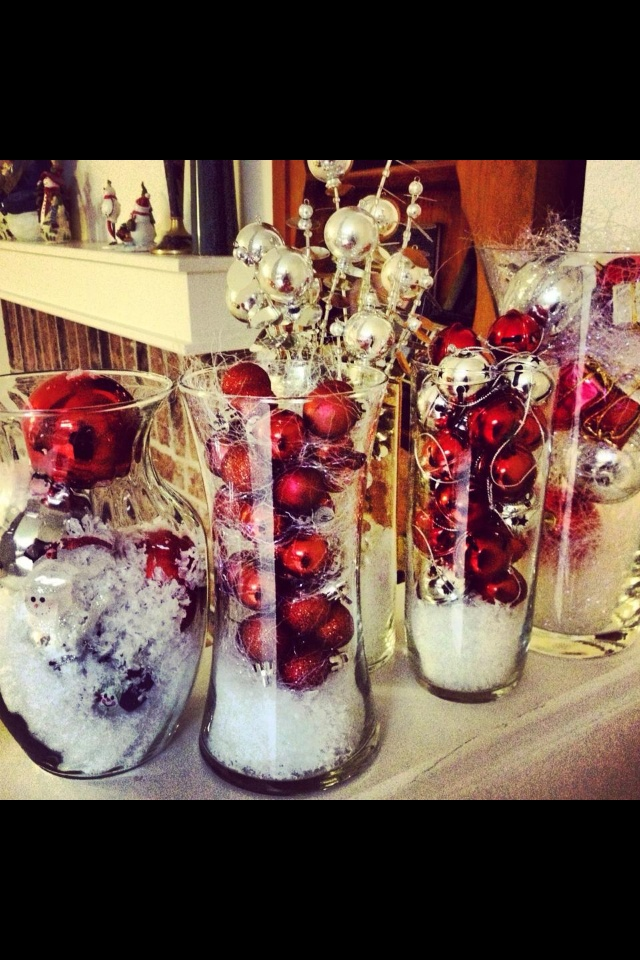 Christmas Centerpieces.  Great idea if you used our Symmetry Trio! www.partylite.biz/itsjustscentsational